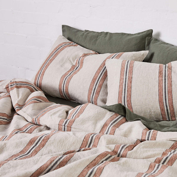 Linen Duvet Cover in Riad