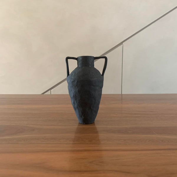 Tara Burke Small Black Ceramic Vase
