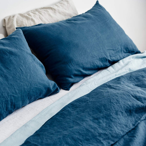 Linen Duvet Cover in Indigo