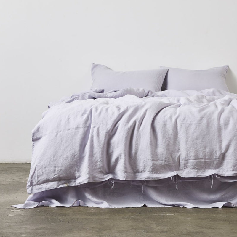 100% Linen Duvet Cover in Lilac