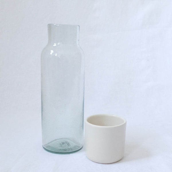 Lagos Del Mundo Glass Carafe with Ceramic White Cup