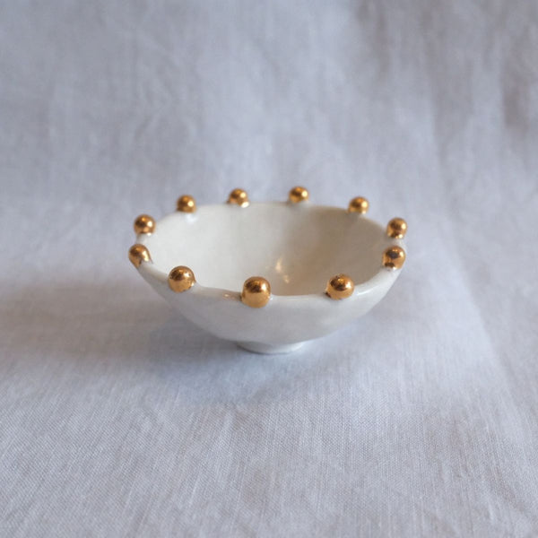 Tara Burke Jewellery Bowl, White/Gold