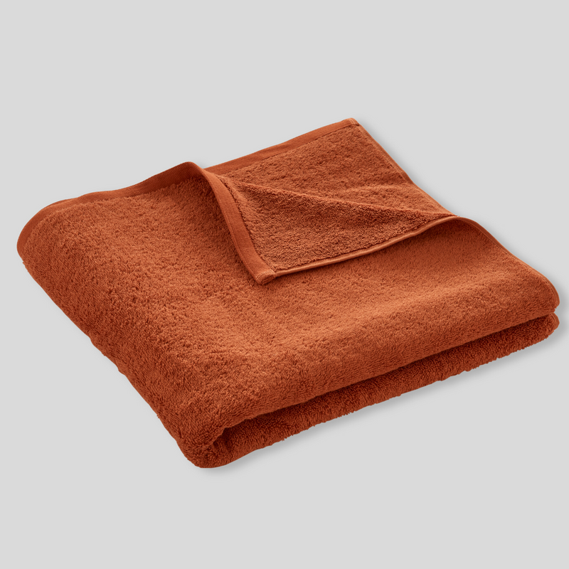 100% Egyptian Cotton Towel in Rust