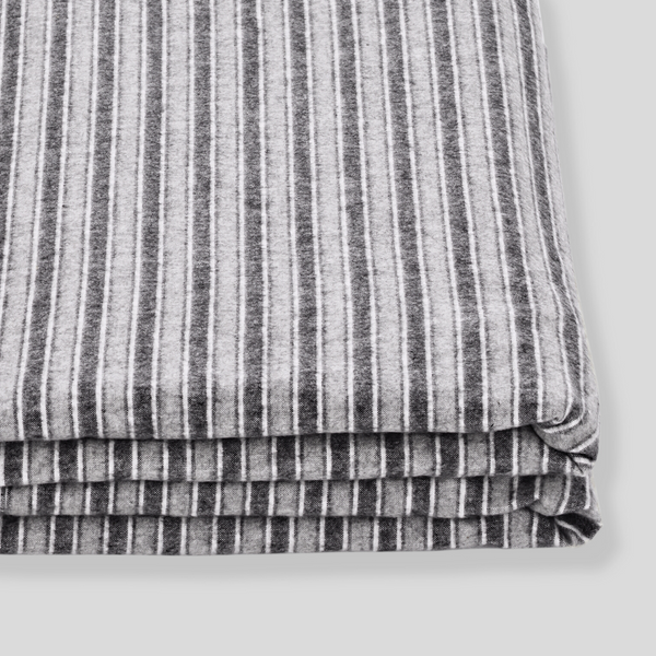 100% Cotton Flannel Fitted Sheet in Stripe