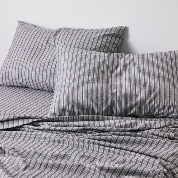 100% Cotton Flannel Pillowslip Set (of two) in Stripe