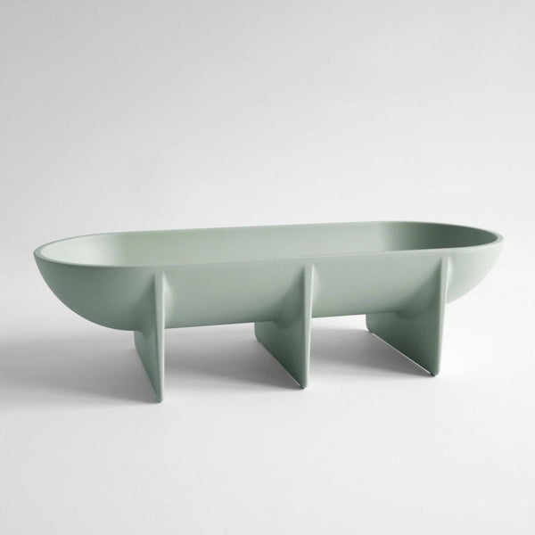 FS Objects Large Standing Bowl, Sage