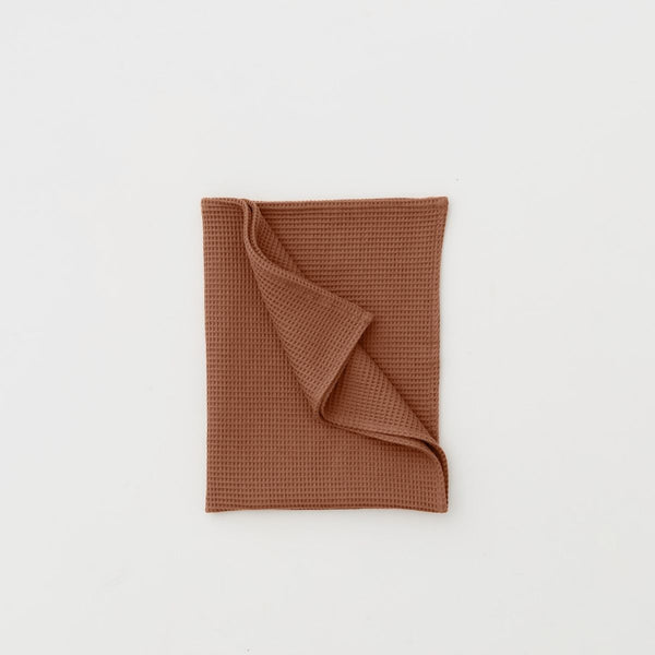 100% Organic cotton Waffle Tea Towel in Toffee