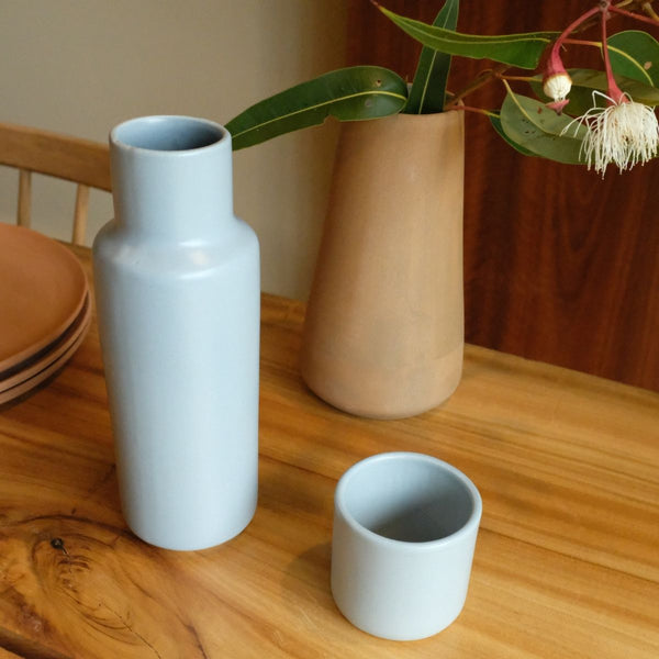 Lagos Del Mundo Blue Carafe with Cup
