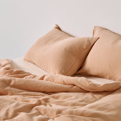 100% Organic Cotton Gauze Duvet Cover in Almond [Pre-order]