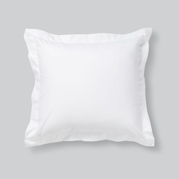 Percale Cotton Pillowslip Set (of two )in White
