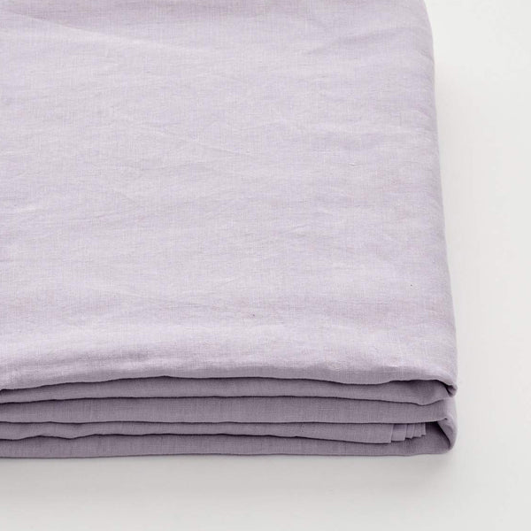 100% Linen Fitted Sheet in Lilac
