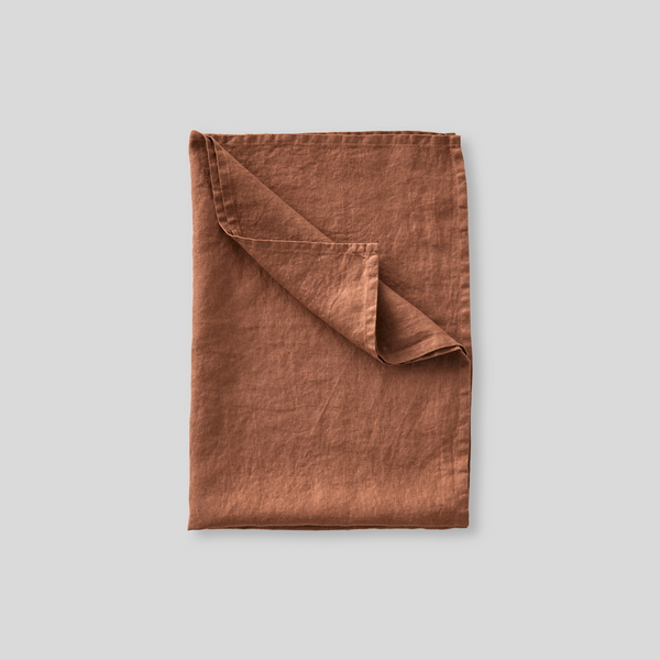 100% Linen Tea Towel in Toffee