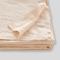 100% Linen Table Cloth in Peach
