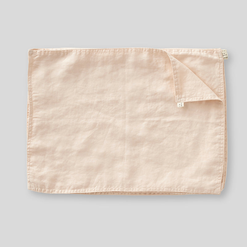 100% Linen Placemat Set in Peach