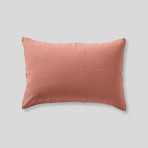 100% Linen Pillowslip set in Rosewood