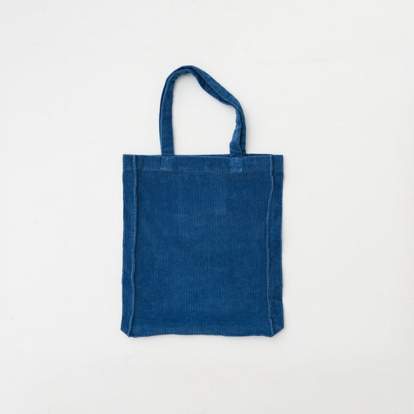 Tote Bag in Blue Corduroy