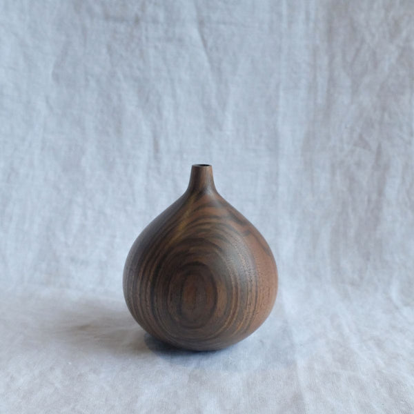 Walk In The Park Tear Vase, Black Walnut