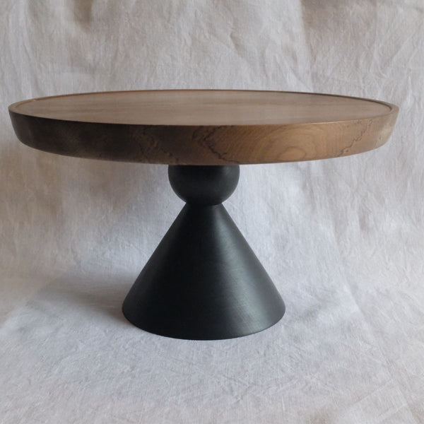 Walk In The Park Cake Stand, Mahogany/Tawa