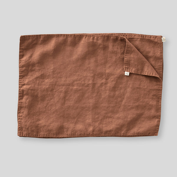 100% Linen Placemat Set in Toffee