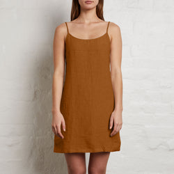 100% Slip dress in Clay