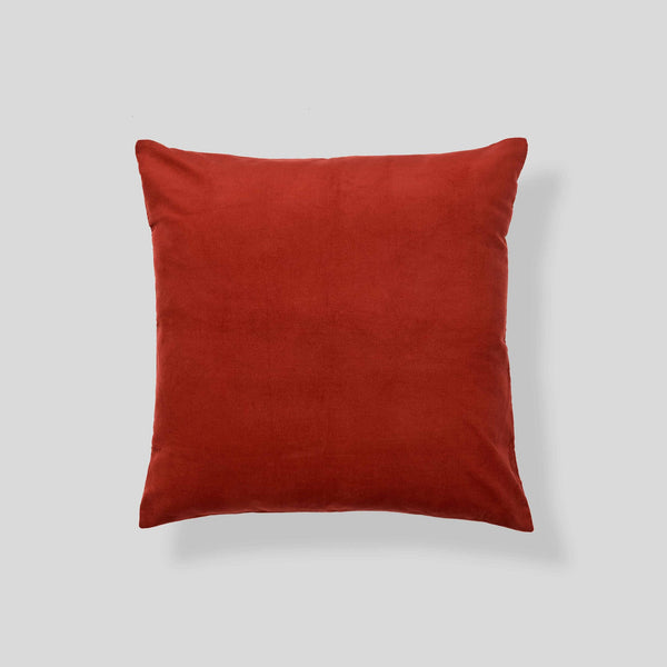 Organic cotton corduroy cushion in Rust - euro