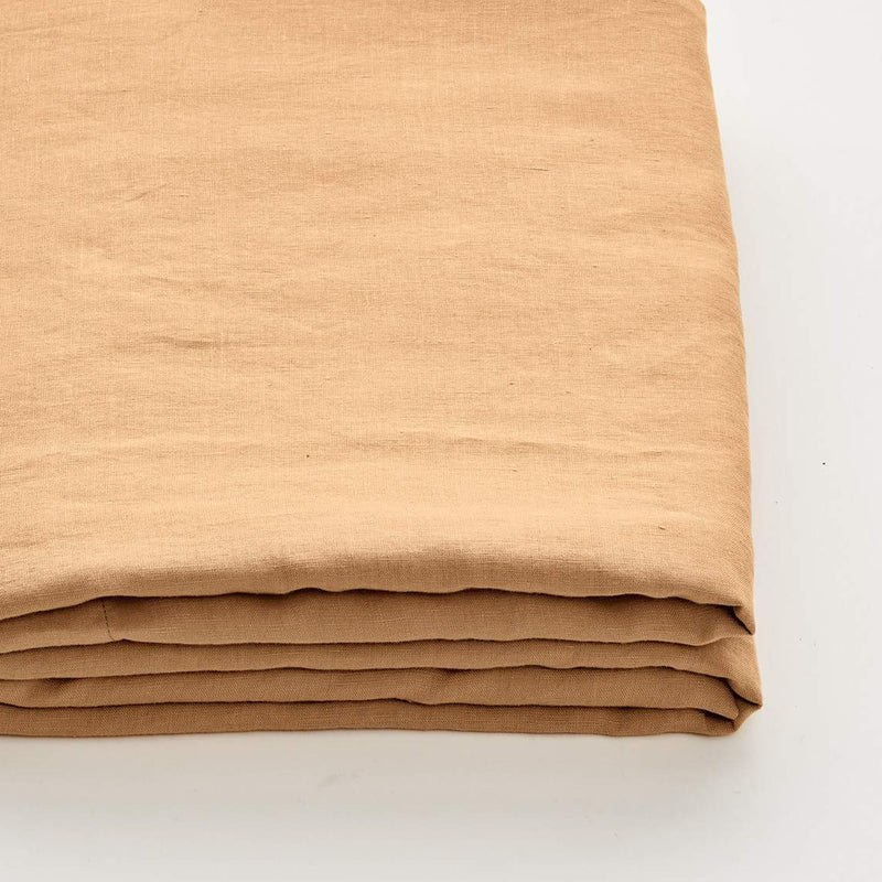 100% Linen Fitted Sheet in Tan