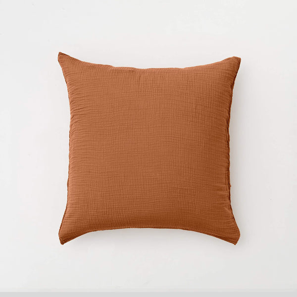 100% Organic Cotton Gauze Pillowslip Set in Terracotta