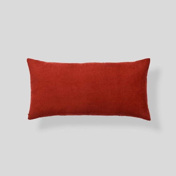 Organic cotton corduroy cushion in Rust - rectangle