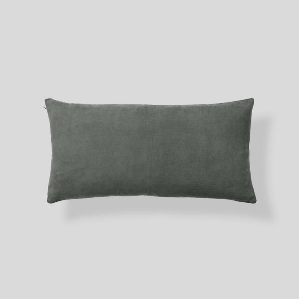 Organic cotton corduroy cushion in Khaki - rectangle