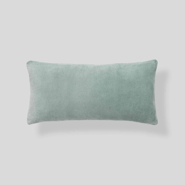 Organic cotton velvet  cushion in Sage - rectangle