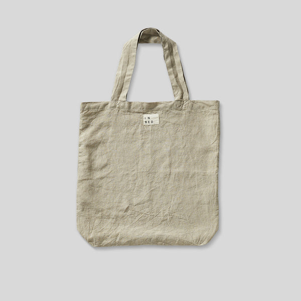 100% Linen Market Bag in Natural
