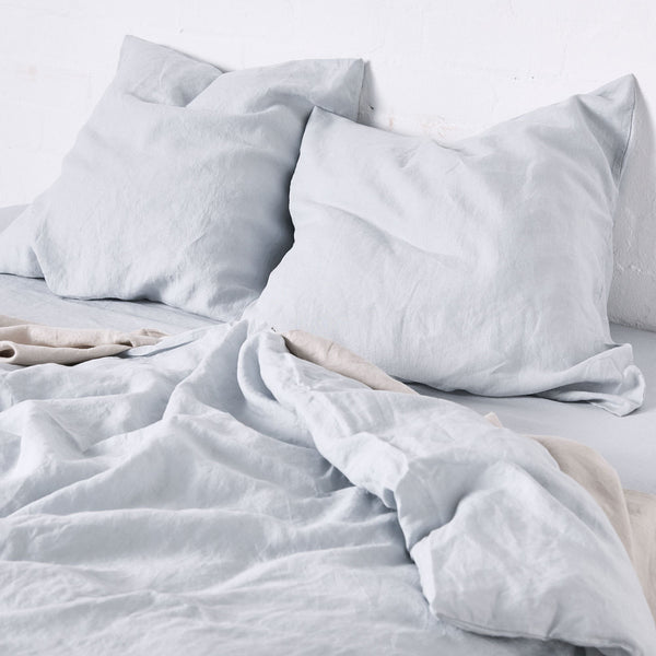 100% Linen Duvet Cover in Mist