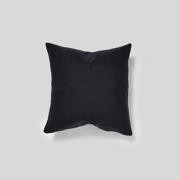 100% Linen Square Cushion in Navy