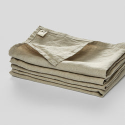 100% Linen Napkin Set in Natural