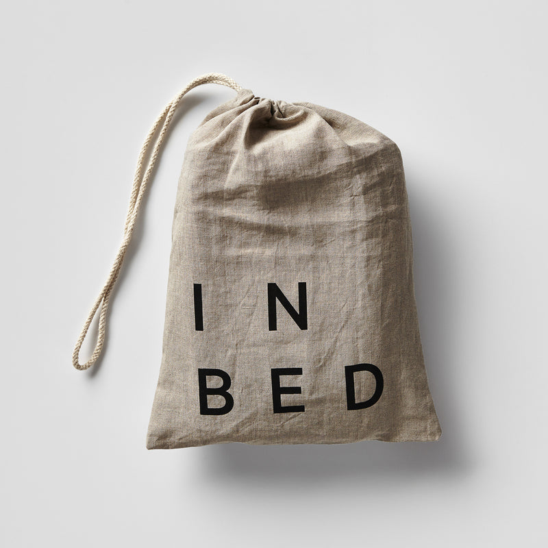 100% Linen Fitted Sheet in Mist