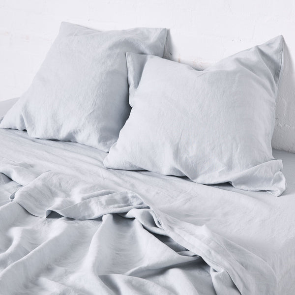 100% Linen Pillowslip Set (of two) in Mist