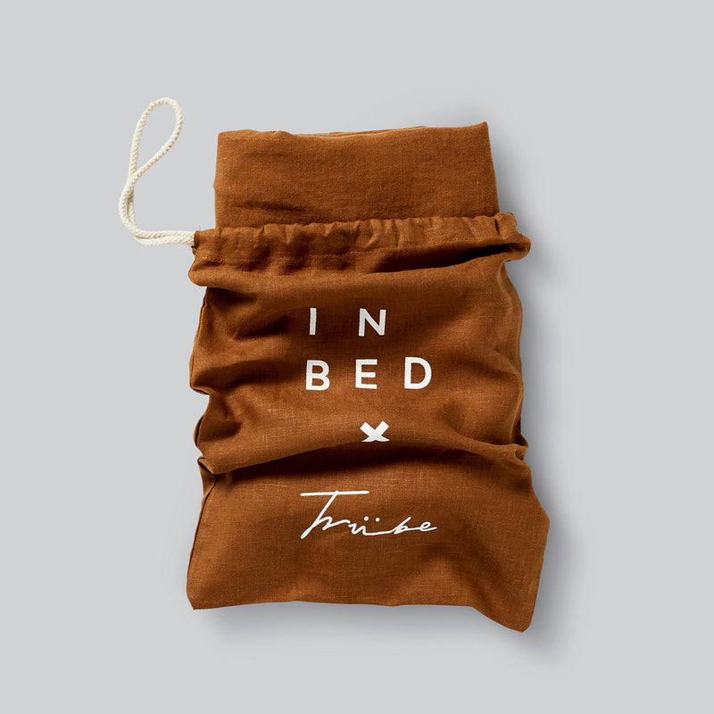 100% Linen Duvet Set in Tobacco