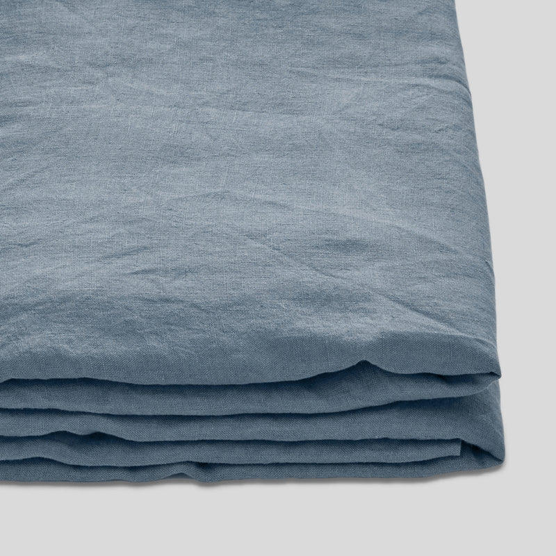 100% Linen Fitted Sheet in Lake