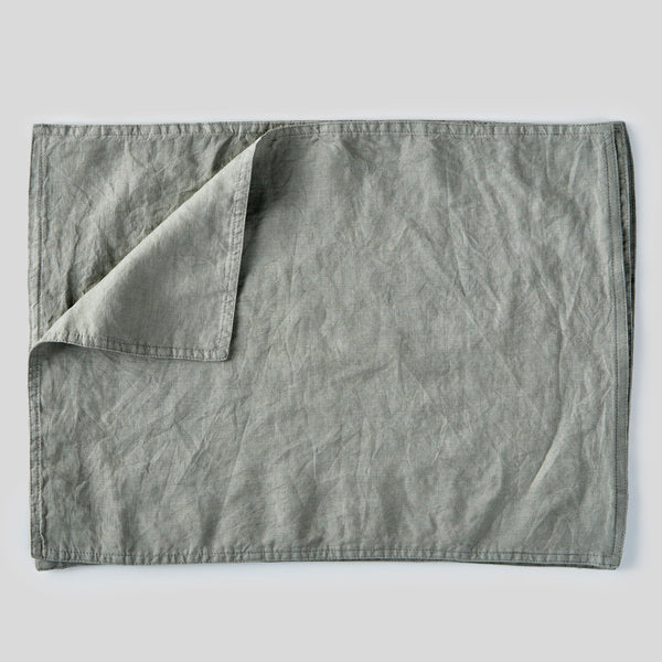 100% Linen Placemat Set in Stone