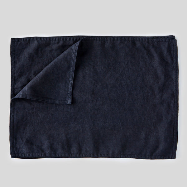 100% Linen Placemat Set in Navy
