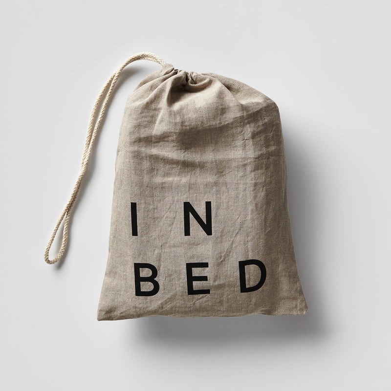 100% Linen Fitted Sheet in Stone