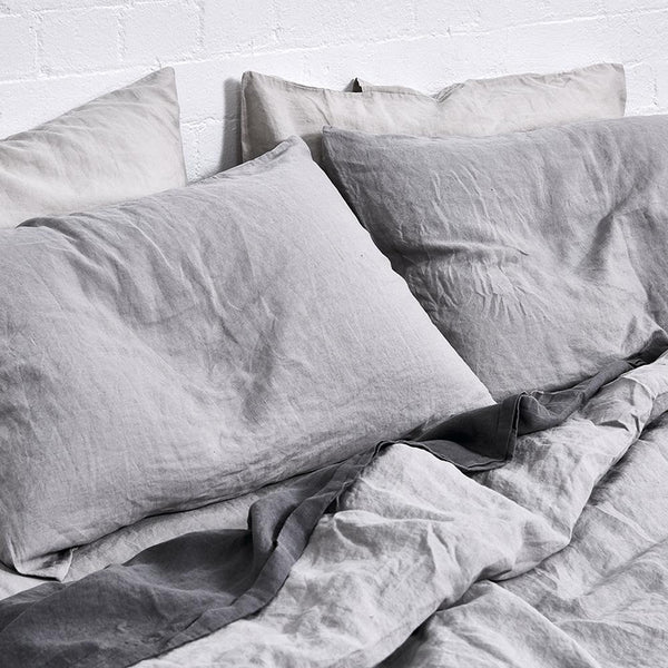 Linen Duvet Cover in Cool Grey