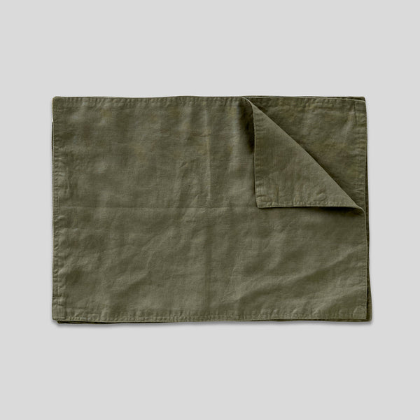 100% Linen Placemat Set in Khaki