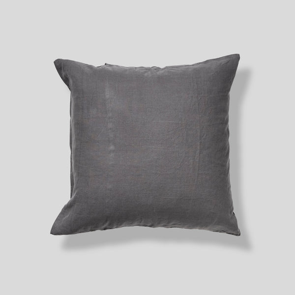 100% Linen Pillowslip Set (of two) in Charcoal