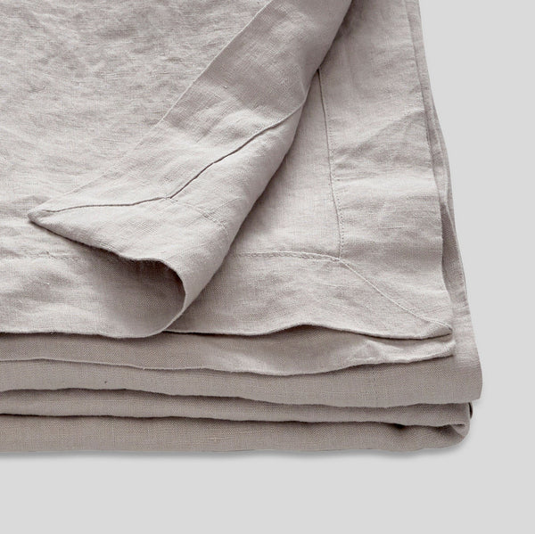 100% Linen Table Cloth in Cool Grey