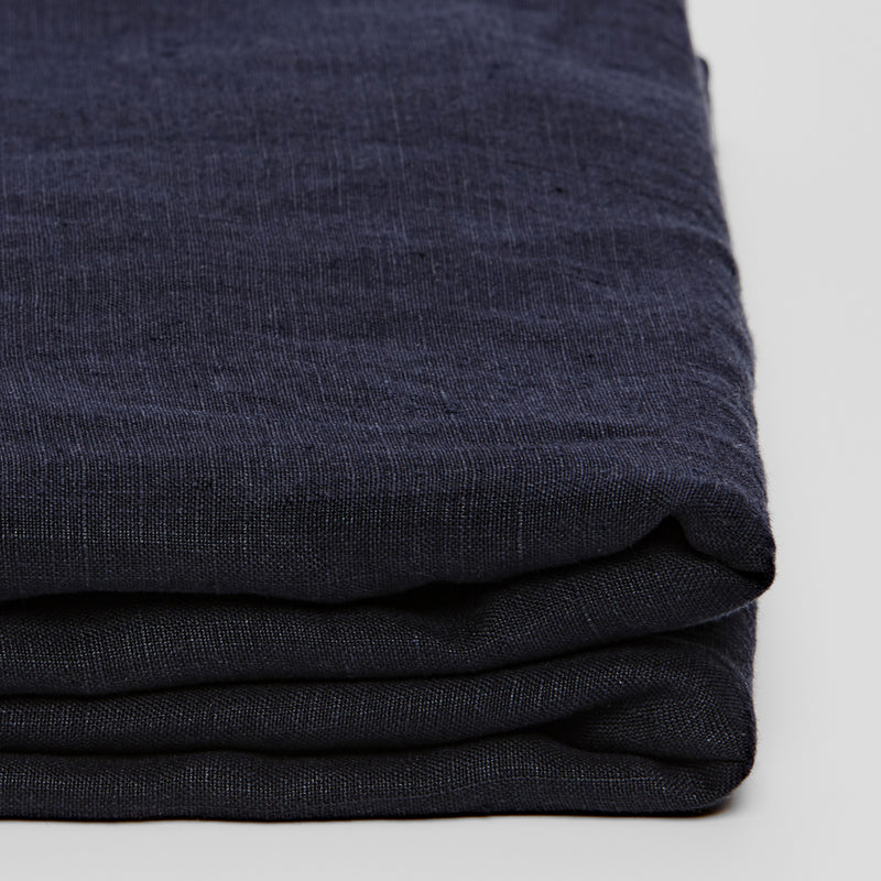 100% Linen Flat Sheet in Navy