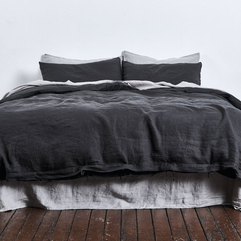 100% Linen Duvet Cover in Kohl