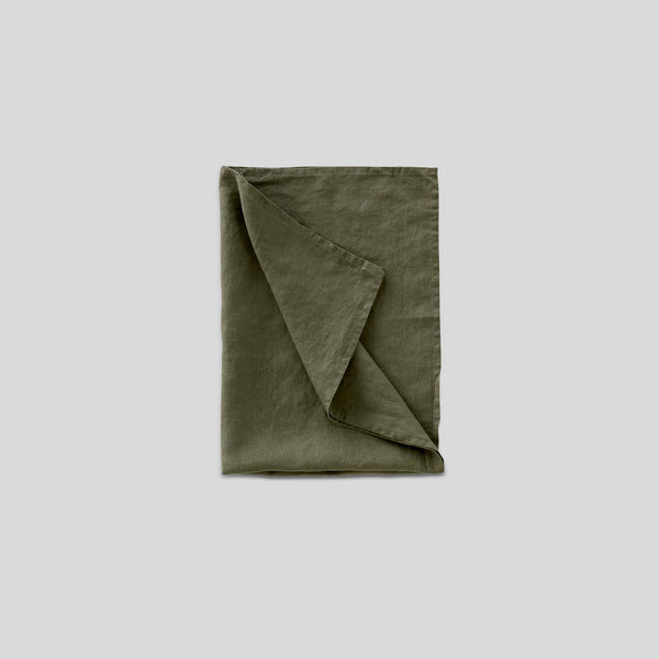 100% Linen Tea Towel in Khaki