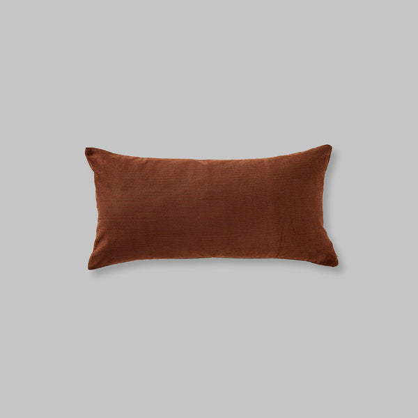 Organic cotton cushion in Cocoa - rectangle