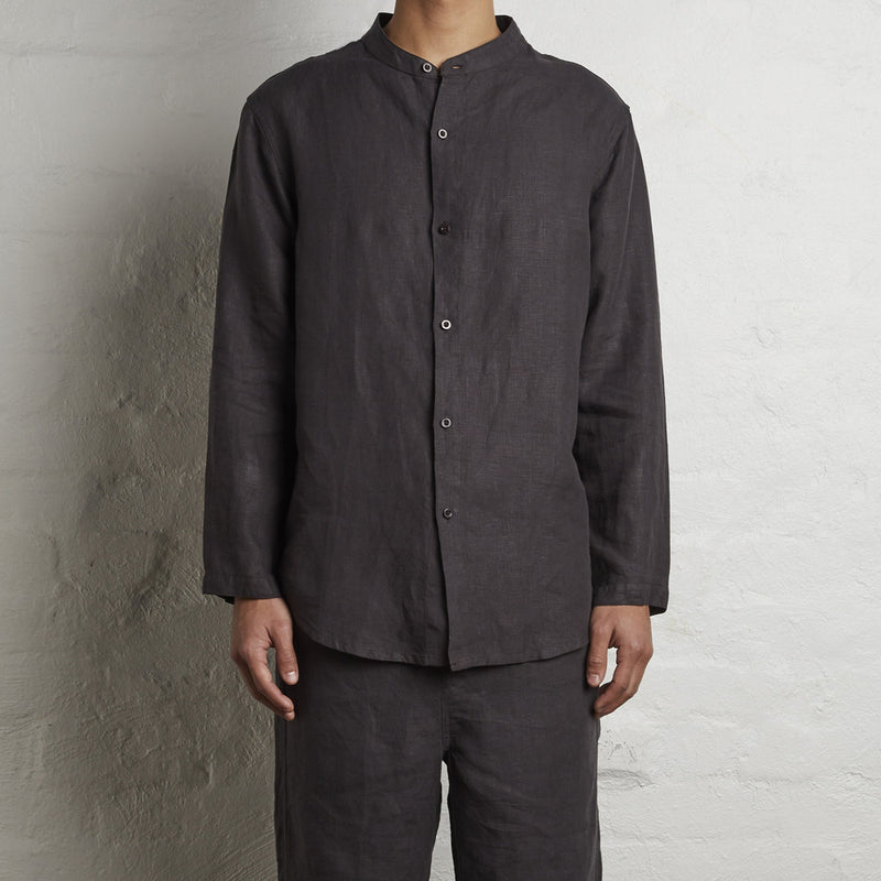100% Linen Shirt in Kohl - Mens